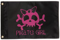 Pirate Girl with Bow Flag