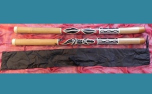 rainbow serpent painted didgeridoo