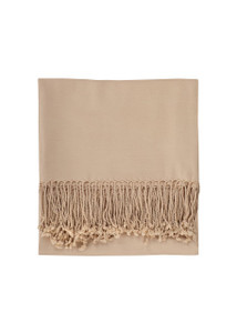 Nine Space Solid Bamboo Throw - Cream too