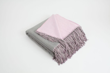 Bi-Color Throw - Gray / Lavender