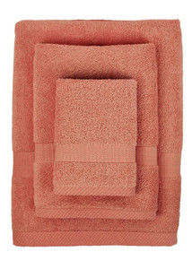 Bamboo Towel Set - Red Tangerine too