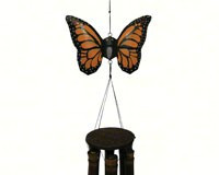 Monarch Butterfly Bamboo Wind Chimes
