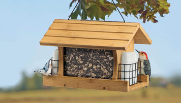 Premium Bamboo Ranch Feeder with Suet