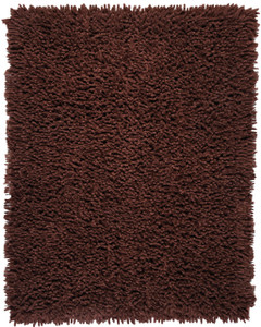 Coffee Bean Silky Shag Rug