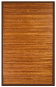Contemporary Chocolate Bamboo Area Rug