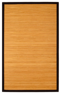 Contemporary Natural Bamboo Area Rug