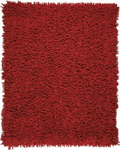 Crimson Silky Shag Rug
