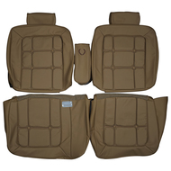 1981-1986 Cadillac Fleetwood Brougham Custom Real Leather Seat Covers (Front)
