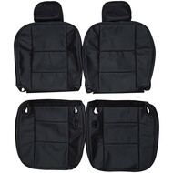 2003-2011 Ford Crown Victoria Police Interceptor Custom Real Leather Seat Covers (Front)