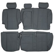 2000-2006 Toyota Tundra Double Cab Custom Real Leather Seat Covers (Rear)