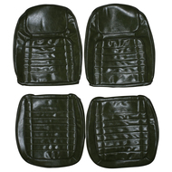 1968 Chevrolet Camaro Custom Real Leather Seat Covers (Front)