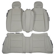 2010-2013 Volvo C70 Convertible Custom Real Leather Seat Covers (Rear)