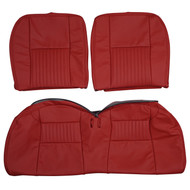 2001 Ford Bullitt Mustang Custom Real Leather Seat Covers (Rear)
