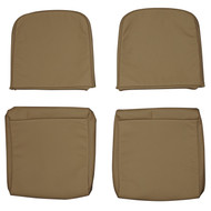 1983-2006 Land Rover Defender Custom Real Leather Jump Seat Covers (Rear)
