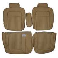1987-1992 Cadillac Fleetwood Brougham Custom Real Leather Seat Covers (Front)
