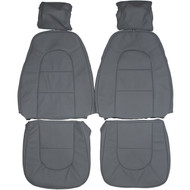 1990-1993 Saab 900 Hatchback Custom Real Leather Seat Covers (Front)