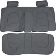 1990-1993 Saab 900 Hatchback Custom Real Leather Seat Covers (Rear)