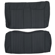 1987-1993 Mustang Convertible Custom Real Leather Seat Covers (Rear)