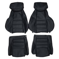 1986-1991 Mazda RX-7 FC3S With Headrest Speakers Custom Real Leather Seat Covers (Front)