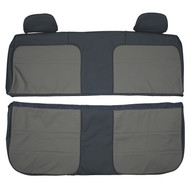 1992-1994 Ford F350 Crew Cab Custom Real Leather Seat Covers (Front)