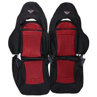 1997-2004 Chevrolet Corvette C5 Sport Custom Real Leather Seat Covers (Front)