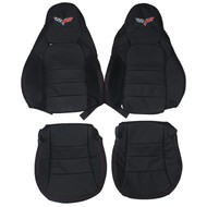 2005-2013 Chevrolet Corvette C6 Sport Custom Real Leather Seat Covers (Front)