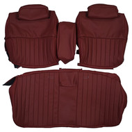 1971-1972 Cadillac Eldorado Convertible Bench Custom Real Leather Seat Covers (Front)