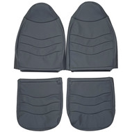 1999-2000 Ford F-250 F-350 F-450 F-550 XLT Custom Real Leather Seat Covers (Front)