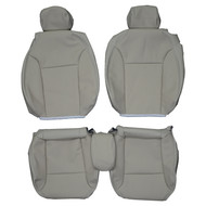 2003-2012 Saab 9-3 Convertible Custom Real Leather Seat Covers (Front)