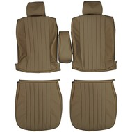 1980-1985 Mercedes Benz W123 280E 300D Custom Real Leather Seat Covers (Front)