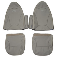 1997-1998 Ford F-150 Lariat Custom Real Leather Seat Covers (Front)