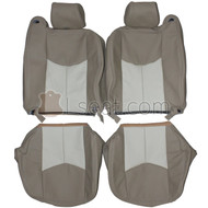 2003-2007 Chevrolet Silverado Custom Real Leather Seat Covers (Front)