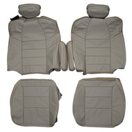 2003-2004 Ford F250 F350 XLT FX4 Custom Real Leather Seat Covers (Front)