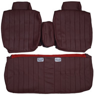 1977-1978 Cadillac DeVille Sedan Custom Real Leather Seat Covers (Front)