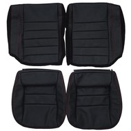 1988-1992 Chevrolet Camaro Custom Real Leather Seat Covers (Rear)