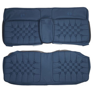 1980-1986 Cadillac Fleetwood Brougham Coupe Custom Real Leather Seat Covers (Rear)