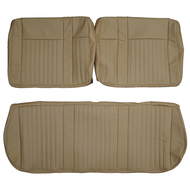 1987-1991 Ford F-250 XLT Custom Real Leather Seat Covers (Front)