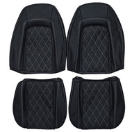 1976-1977 Pontiac Firebird Custom Real Leather Seat Covers (Front)