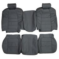 2001-2003 Ford F-250 Lariat Quad-Cab Extended-Cab Super-Cab Custom Real Leather Seat Covers (Front)