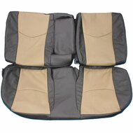 2010-2014 Toyota Prius Custom Real Leather Seat Covers (Rear)