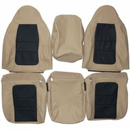 2001 Ford F250 F350 Lariat Custom Real Leather Seat Covers (Front)