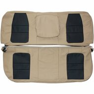 2001 Ford F250 F350 Lariat Custom Real Leather Seat Covers (Rear)