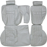 1997-2002 Range Rover Custom Real Leather Seat Covers (Rear)