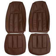 1970 Mercury Cougar XR-7 Custom Real Leather Seat Covers (Front)