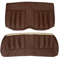 1970 Mercury Cougar XR-7 Custom Real Leather Seat Covers (Rear)