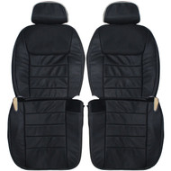 1998-2002 Lincoln Town Car Custom Real Leather Seat Covers (Front)