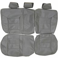1999-2005 Volkswagen Jetta Custom Real Leather Seat Covers (Rear)