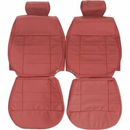 1984-1986 Mustang Convertible Custom Real Leather Seat Covers (Front)