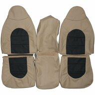 1999 Ford F250 F350 Lariat Custom Real Leather Seat Covers (Front)