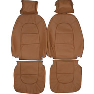 1990-1993 Saab 900 Convertible Custom Real Leather Seat Covers (Front)